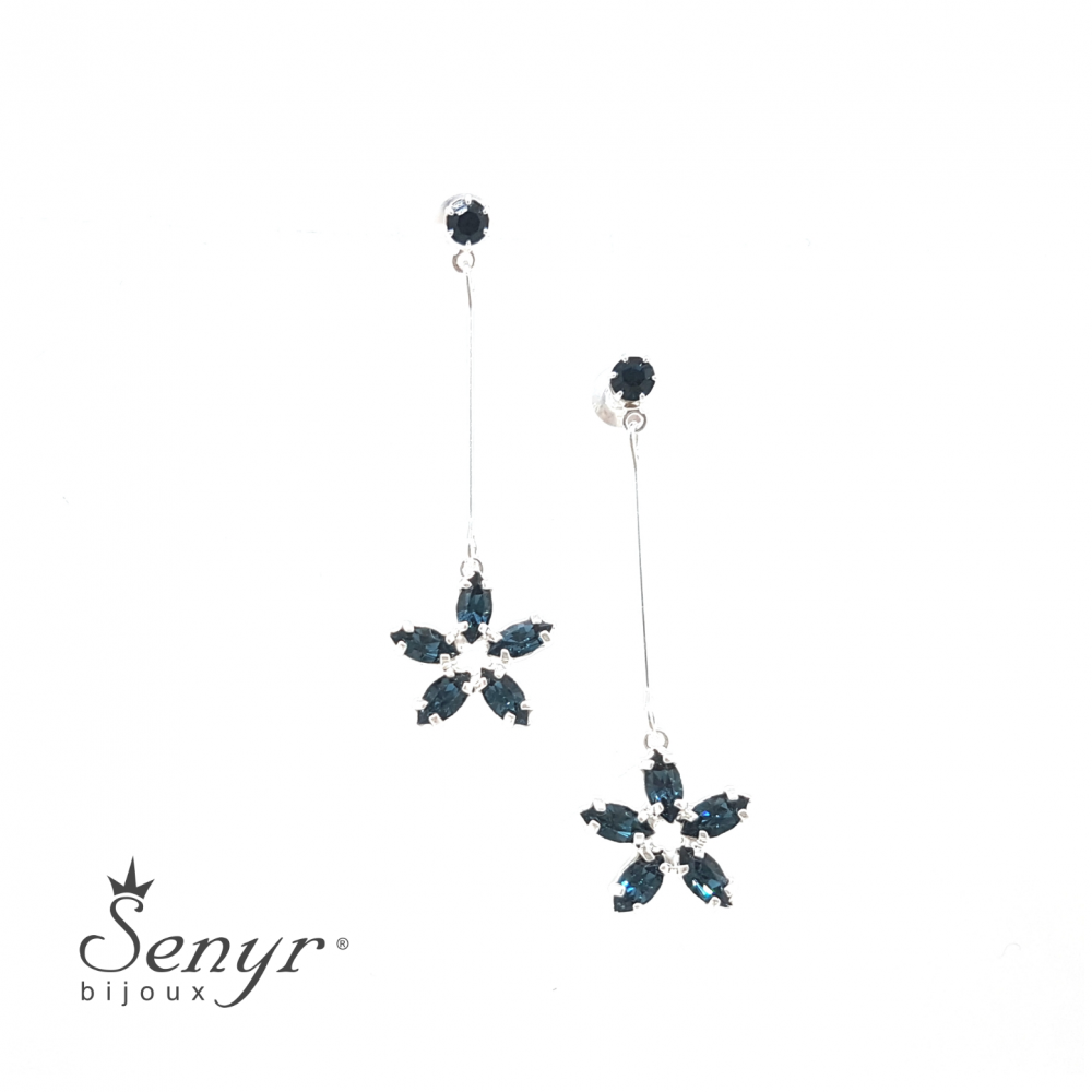 Bohemian crystal earrings Flower