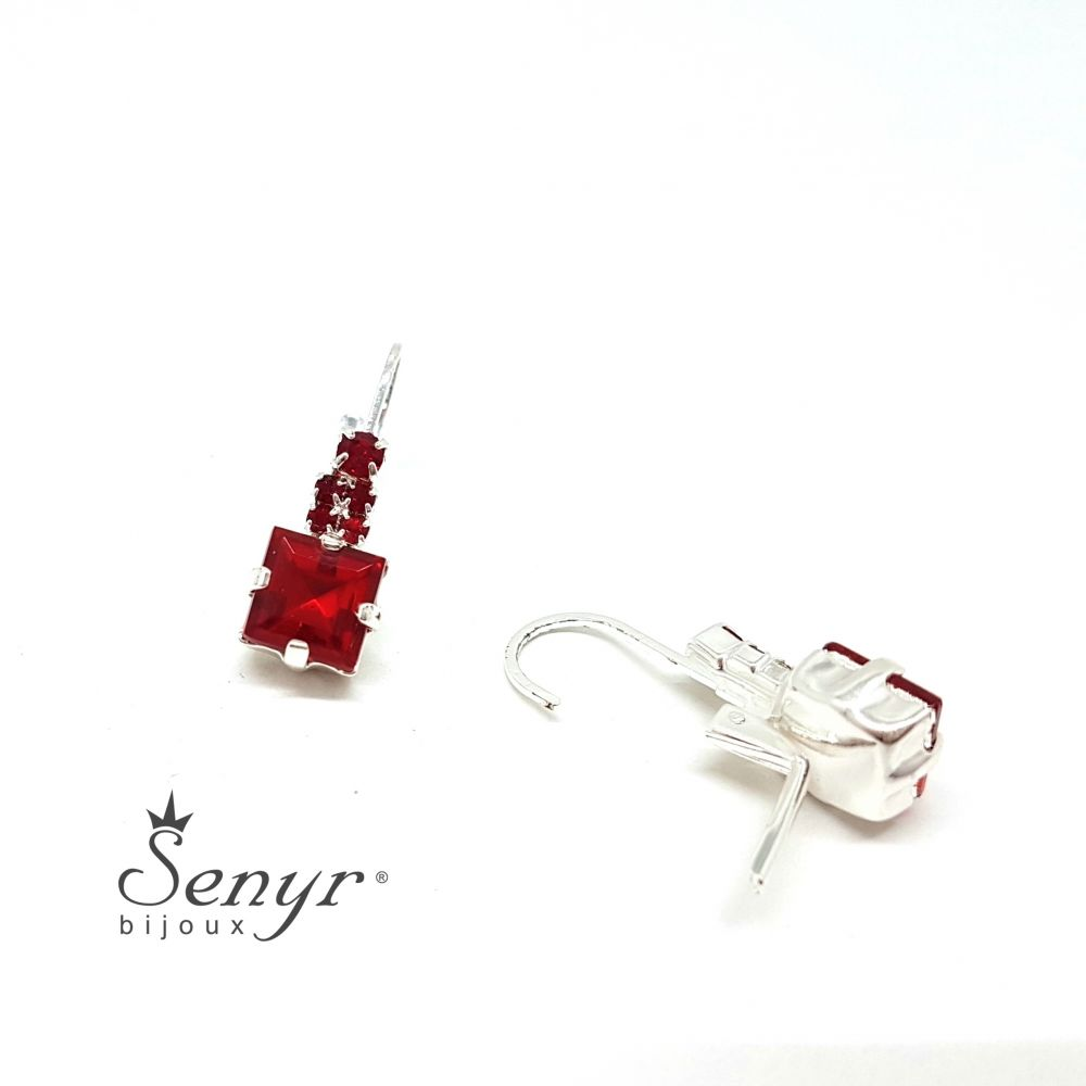 Bohemia crystal earrings Square