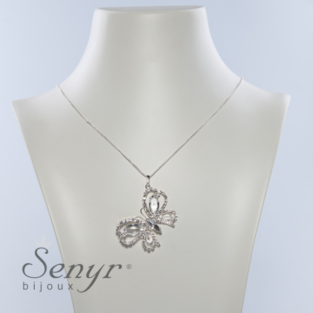Chain with big butterfly pendant