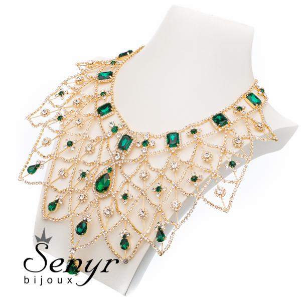 Necklace Golden Majesty Emerald