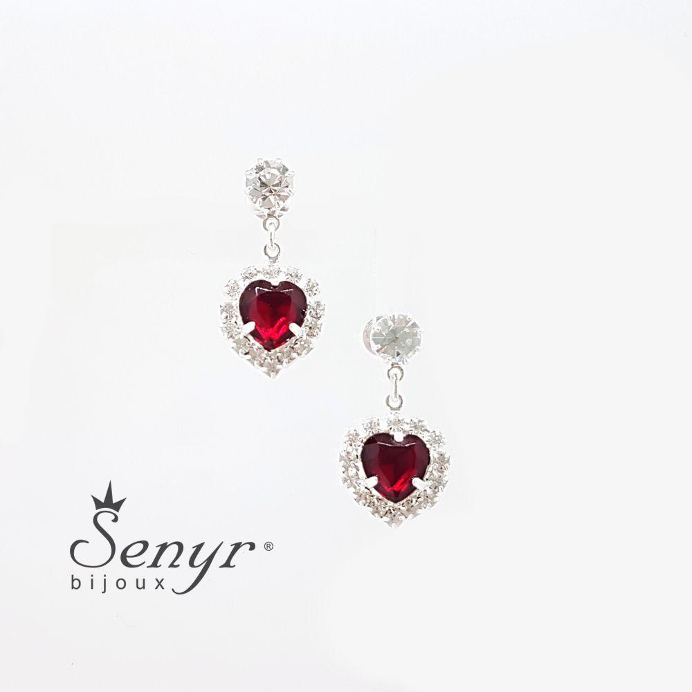 Bohemia crystal earrings HEART