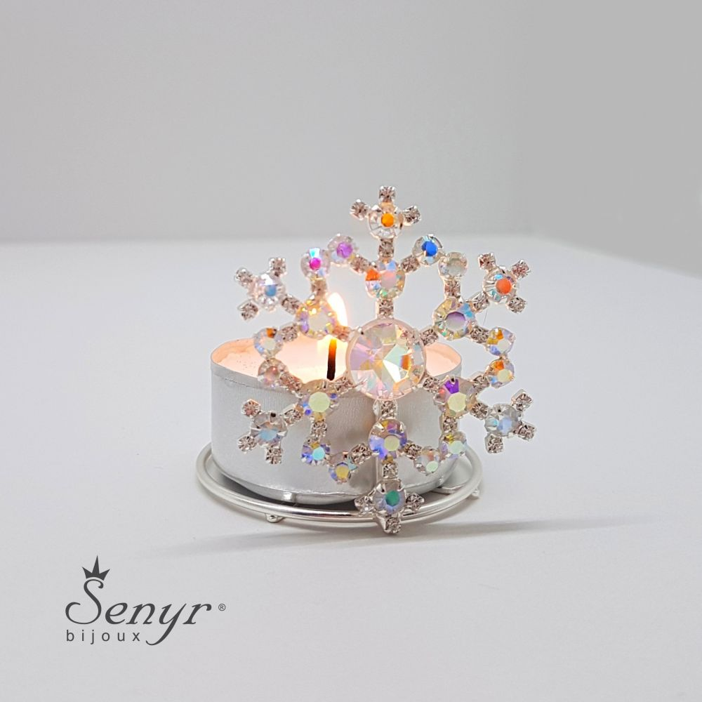 Crystal SNOWFLAKE - candle holder