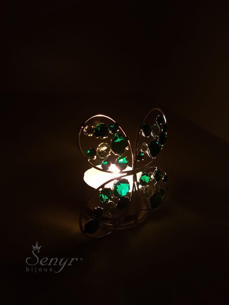 Crystal CLOVERLEAF - candle holder