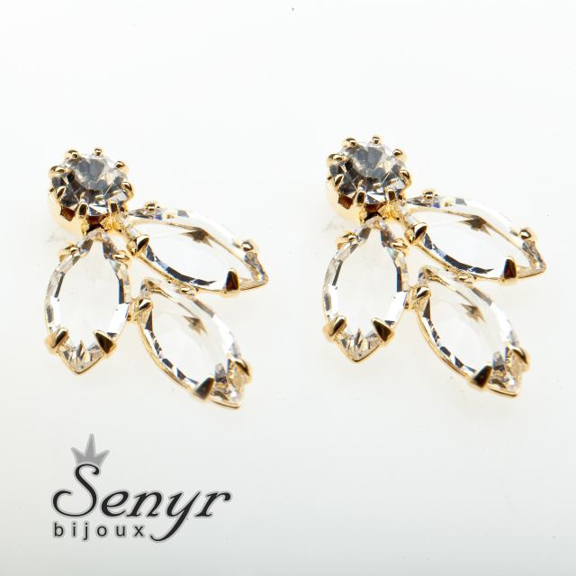 Earrings with romantic shade