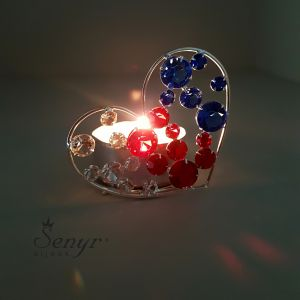 Crystal HEART - candle holder