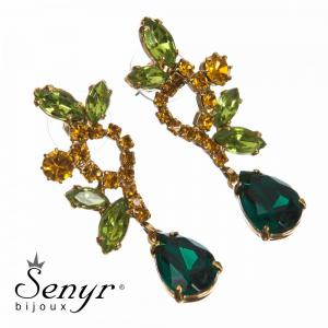 Earrings Beautiful Hour Greenbrown
