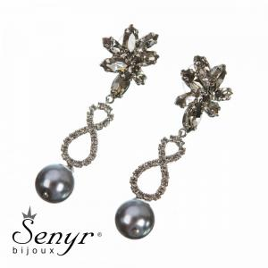 Earrings Pearl Treasure Gray